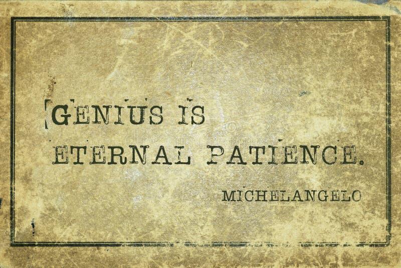 Snille är patiens Michelangelo royaltyfria foton