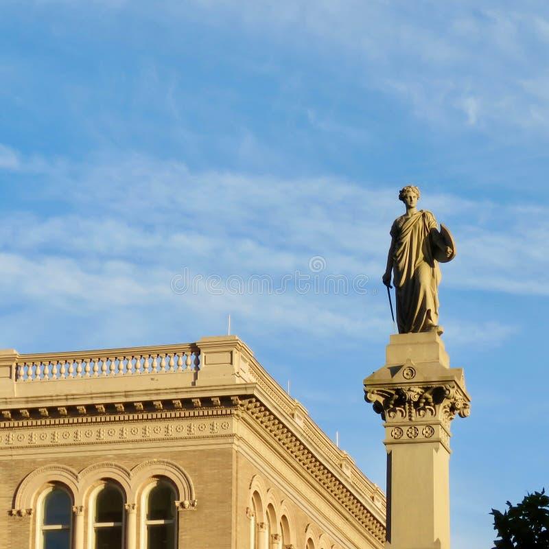 Snille av frihetstatyn, i stadens centrum Lancaster, PA royaltyfri bild