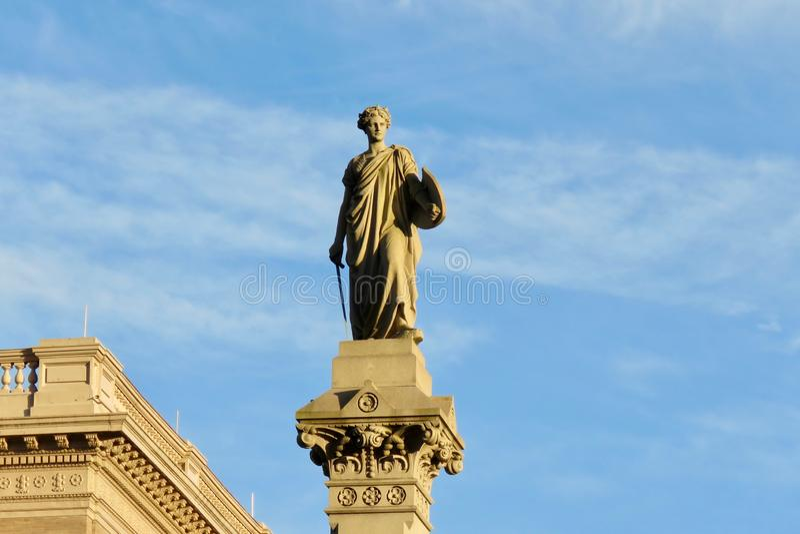 Snille av frihetstatyn, i stadens centrum Lancaster, PA arkivbilder