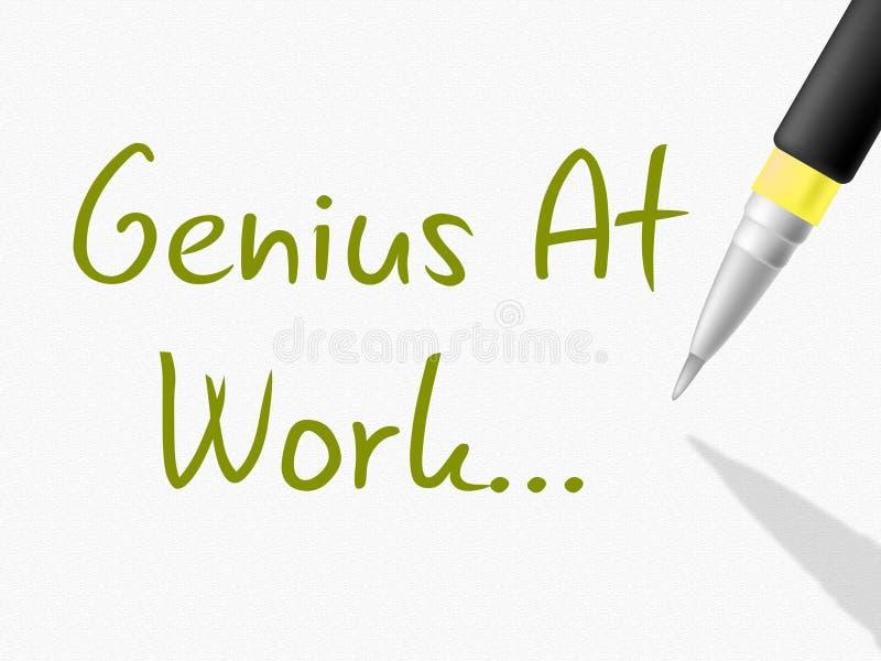 Snille på arbete indikerar intellektuell kapacitet och begåvning vektor illustrationer
