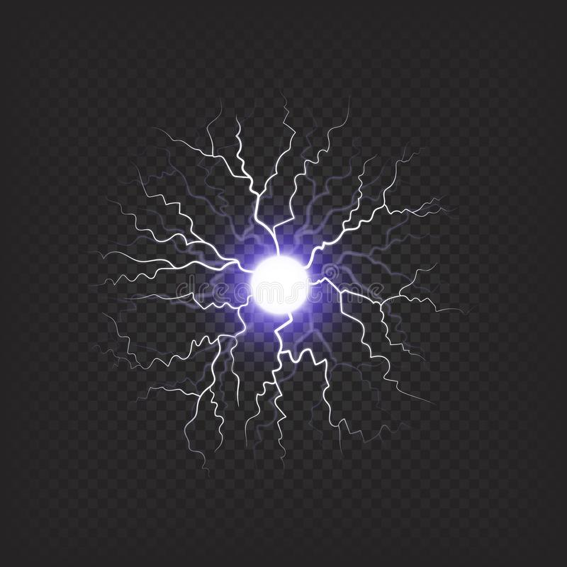 Sniny brilhante Violet Fireball Illustration ilustração stock