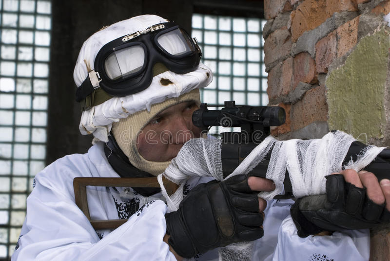 Download Sniper stock photo. Image of forces, combat, black, officer - 12076180