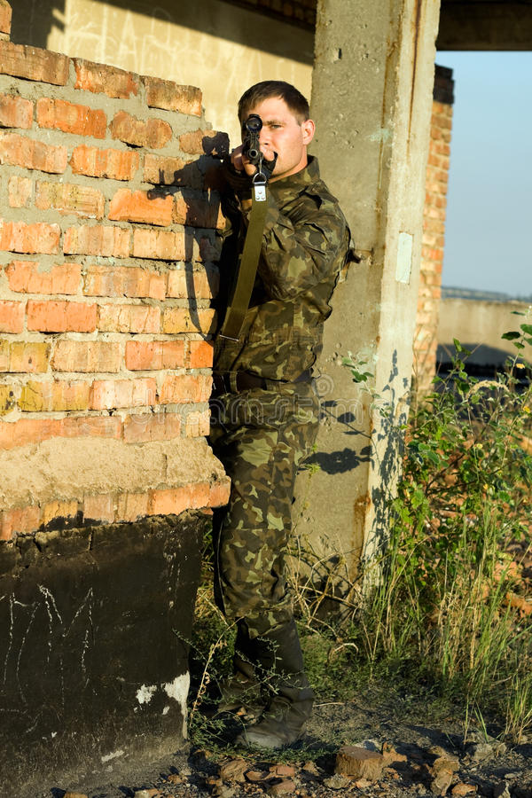 Download Sniper stock photo. Image of guard, lens, military, confrontation - 12496460