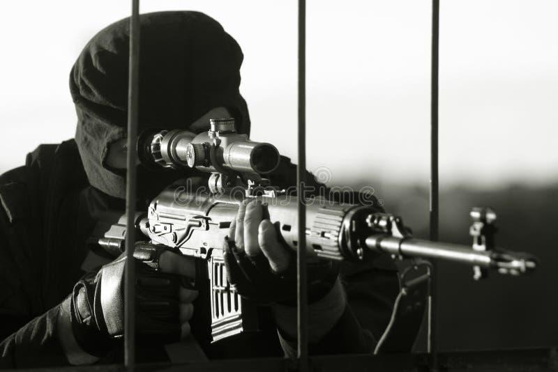 Download Sniper stock image. Image of hardcore, human, lying, gunshot - 14782223