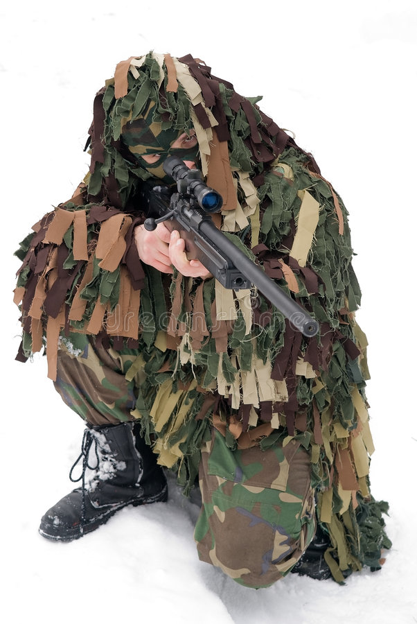 Download Sniper stock image. Image of games, camouflage, army, person - 8380007