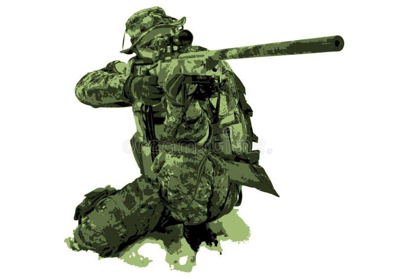 Download Sniper stock illustration. Illustration of suit, targeting - 8782242