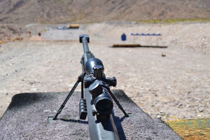 Sniper Barrett rifle , 0.50 caliber, m82a1 stock image