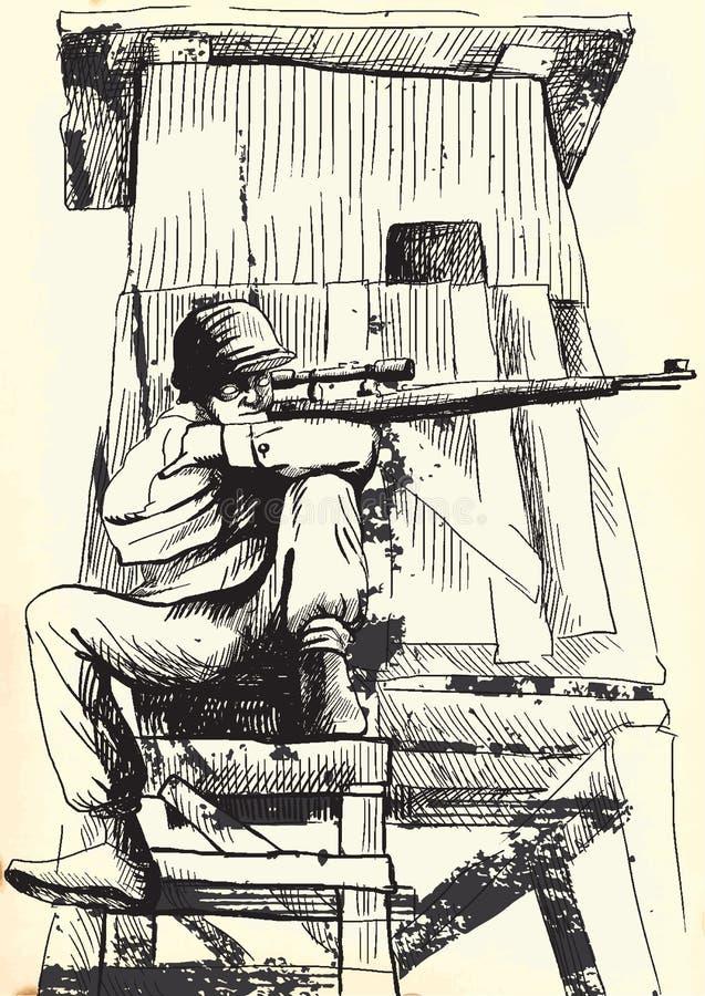 Download Sniper stock vector. Illustration of mask, fine, dead - 29713649