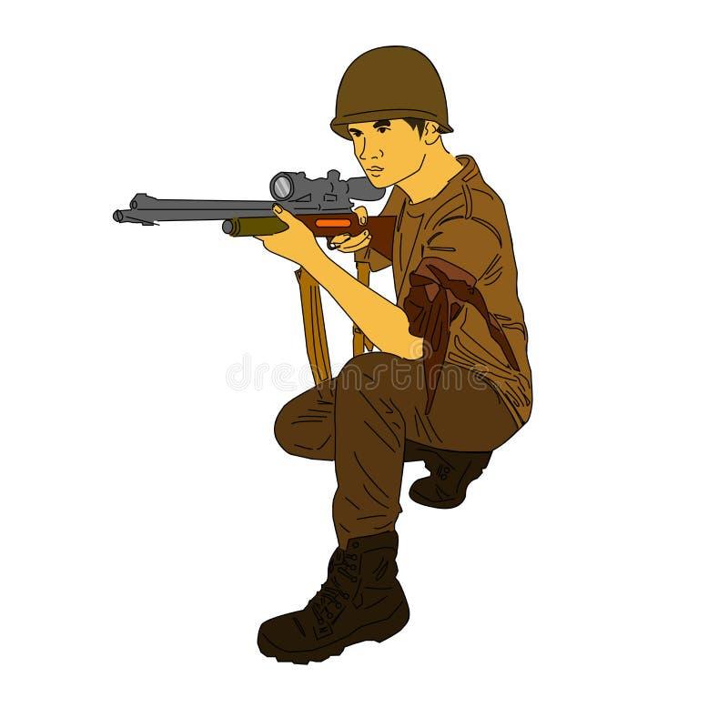 Sniper royalty free illustration