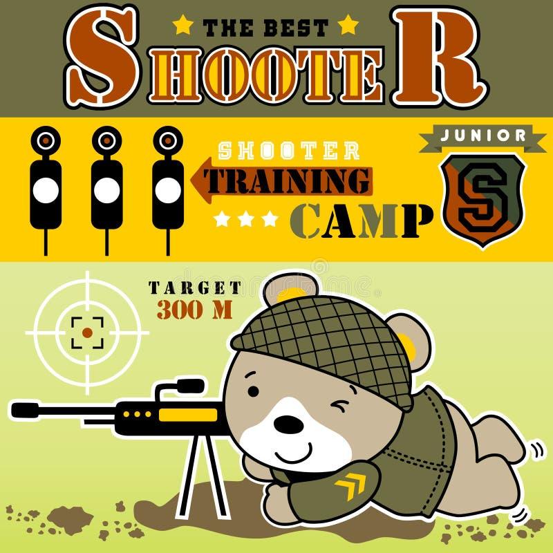 Sniper cartoon vector stock illustration