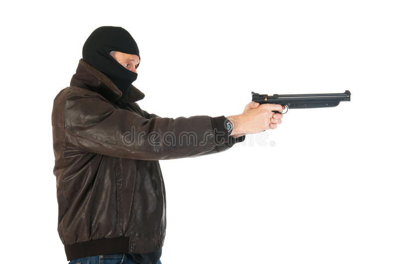 Sniper With Gun Royalty Free Stock Photography