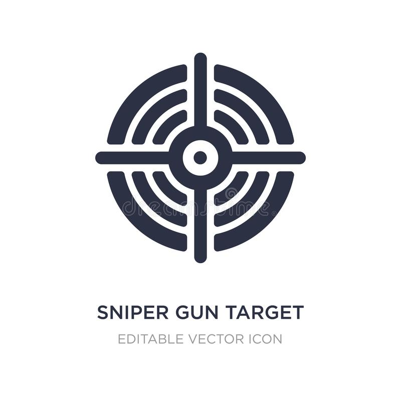 sniper gun target icon on white background. Simple element illustration from General concept stock illustration
