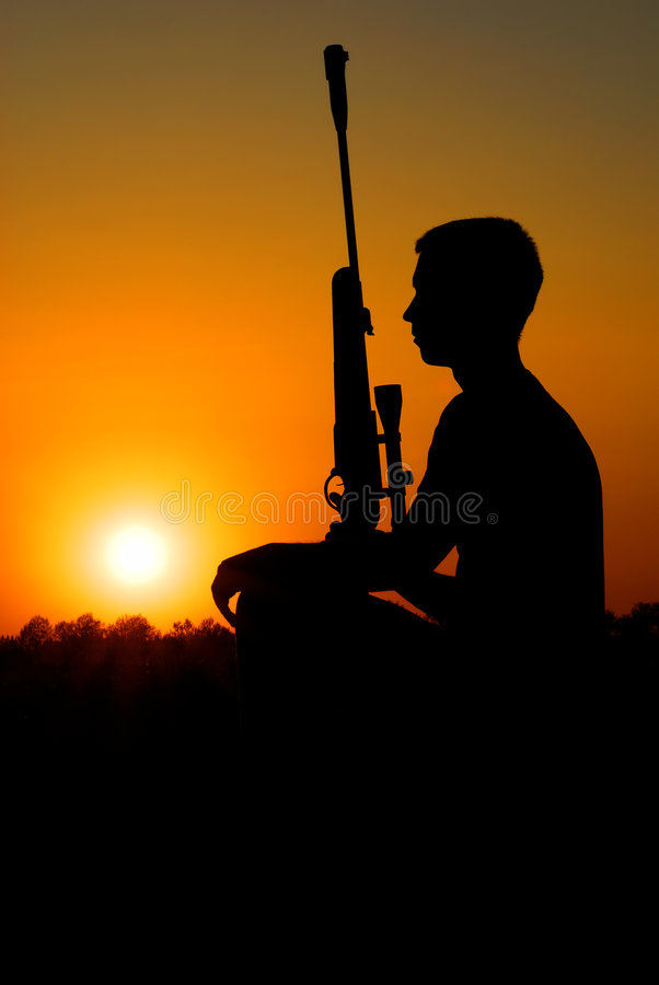 The Sniper Has A Rest Royalty Free Stock Images