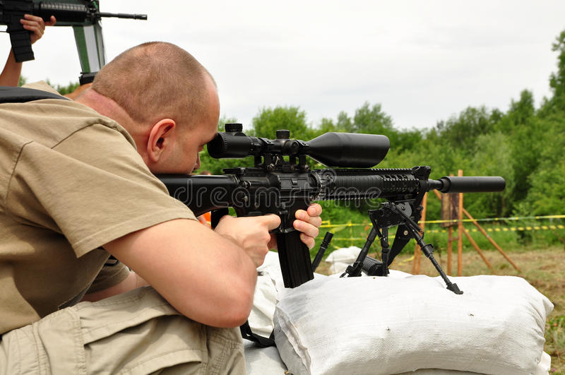Sniper Training Royalty Free Stock Images