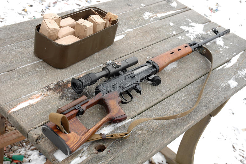 Download Sniper rifle stock photo. Image of desk, insecurity, shoot - 22597218