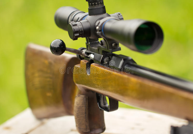 Download Sniper Rifle stock photo. Image of aiming, army, side - 24995266