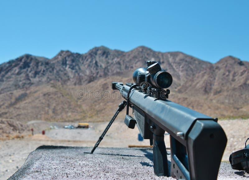 Sniper rifle Barrett 0.50 caliber m81a1 stock photo
