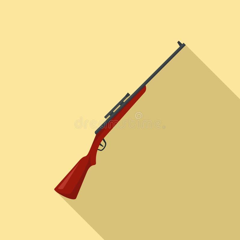Sniper rifle icon, flat style stock illustration