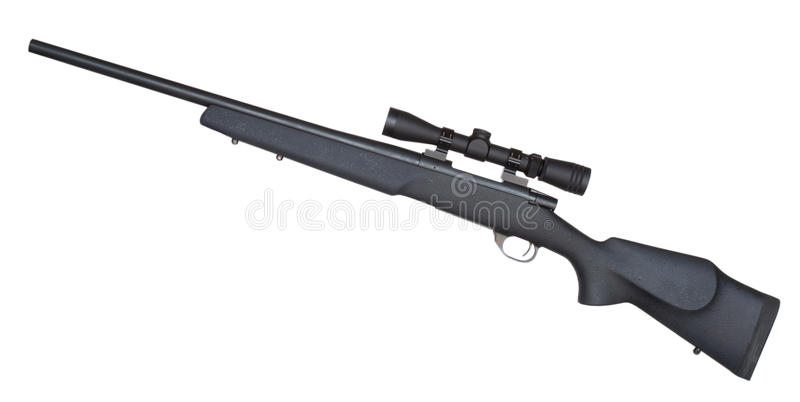 Sniper rifle royalty free stock photos