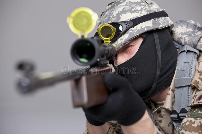 Download Sniper shooting stock photo. Image of action, helmet - 36703648