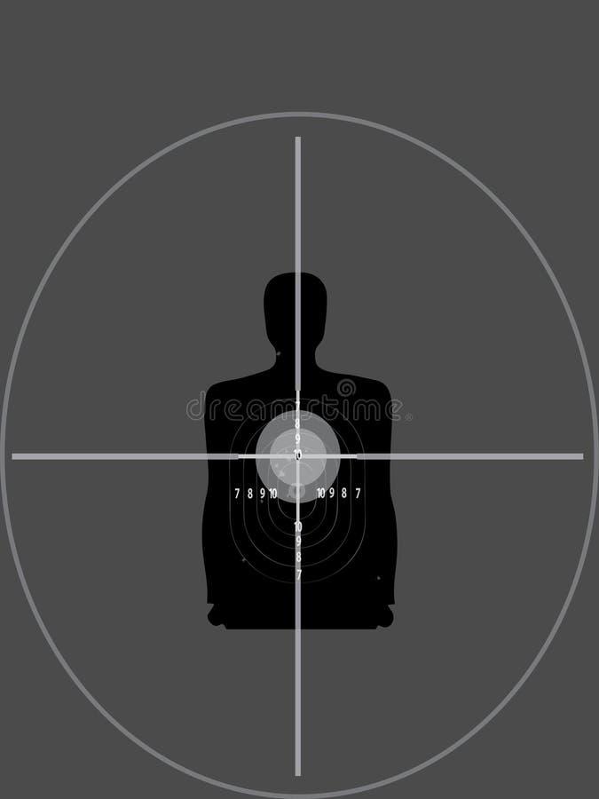 Download Sniper shutting target stock illustration. Image of bullets - 14369760