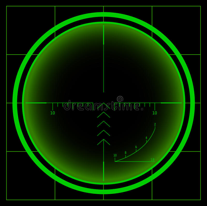 Sniper sight. Night vision. Beautiful illustration. Additional vector format in EPS 8 royalty free illustration