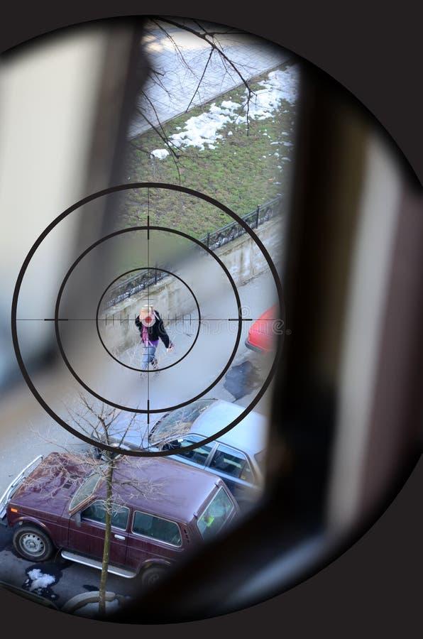 Download Sniper target stock image. Image of aiming, illustration - 18831807