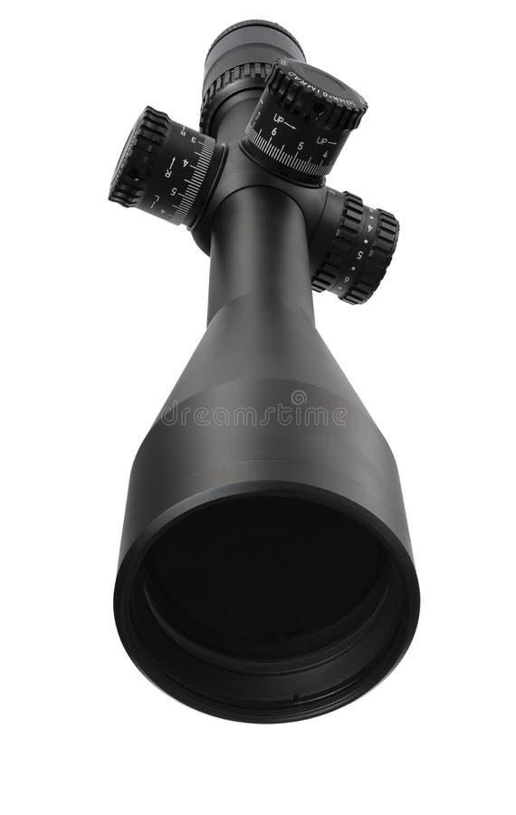Sniperbereik op wit royalty-vrije stock afbeelding
