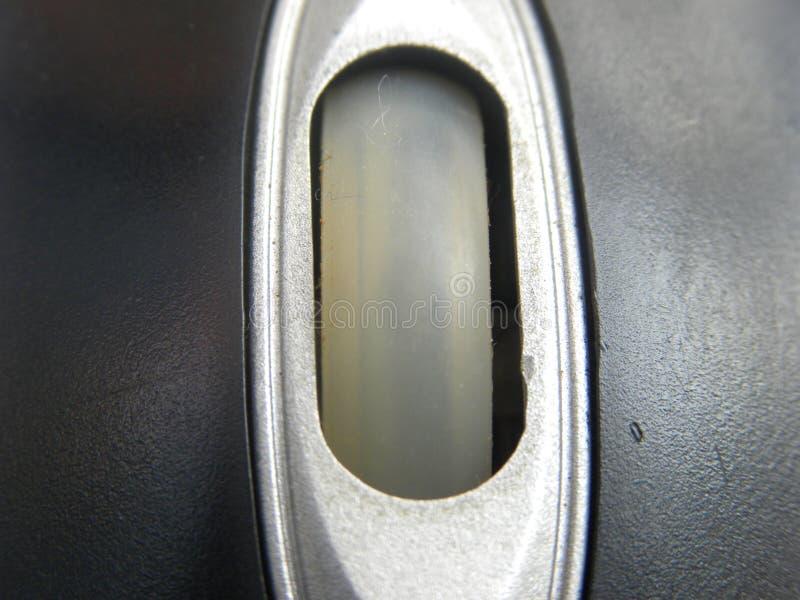 Snirkelhjul av en mus för liten dator royaltyfria foton