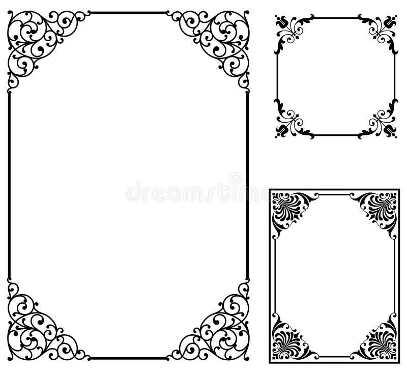 Snirkelramar royaltyfri illustrationer