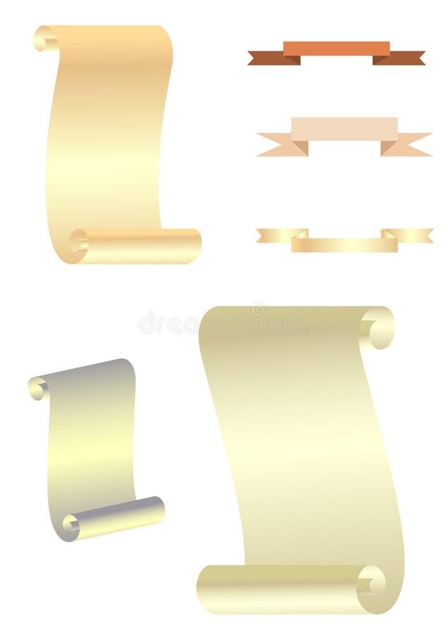Snirklar stock illustrationer