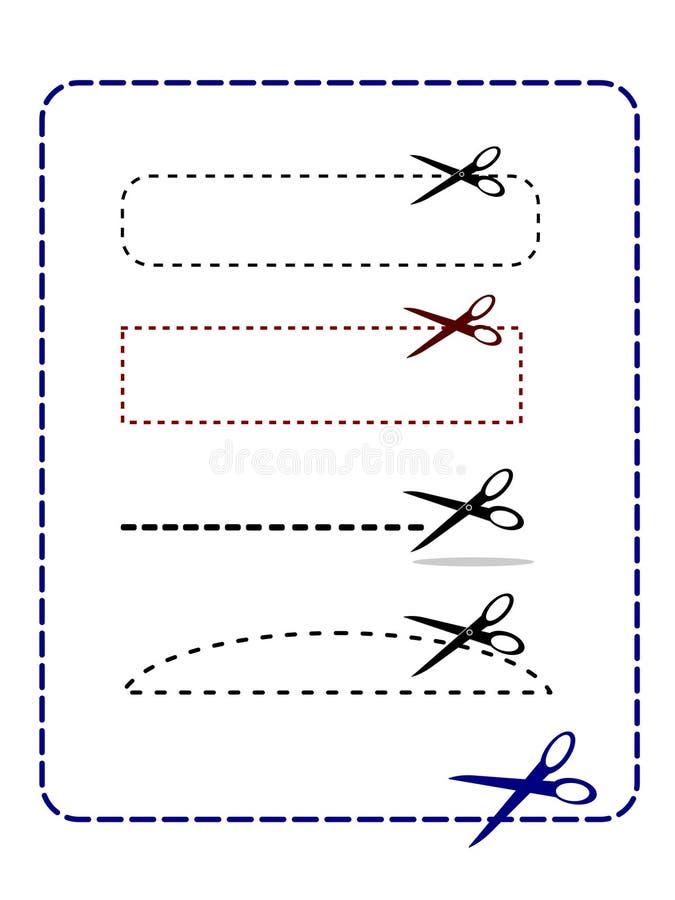snitt här royaltyfri illustrationer