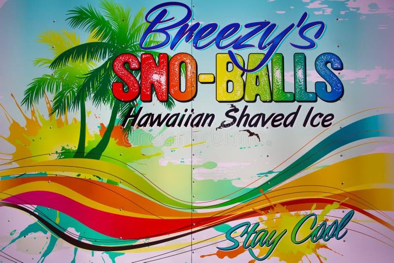 sno-boules de signe de la Rétro-publicité illustration de vecteur