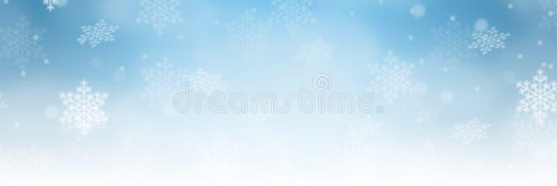 Sno för garnering för modell för vinter för gräns för julbakgrundsbaner royaltyfri illustrationer