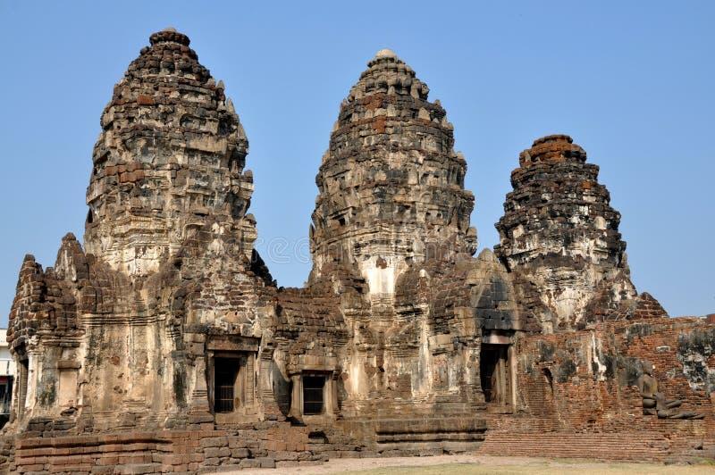 Snoei Buri, Thailand: Wat Prang SAM Yot stock foto