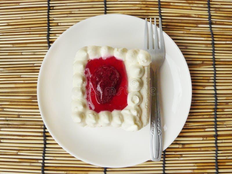 Snoepje van cake stock fotografie