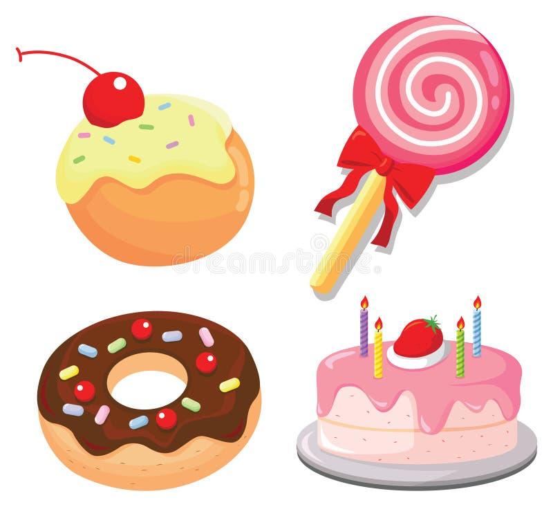 Snoepjes En Cakes Stock Foto's