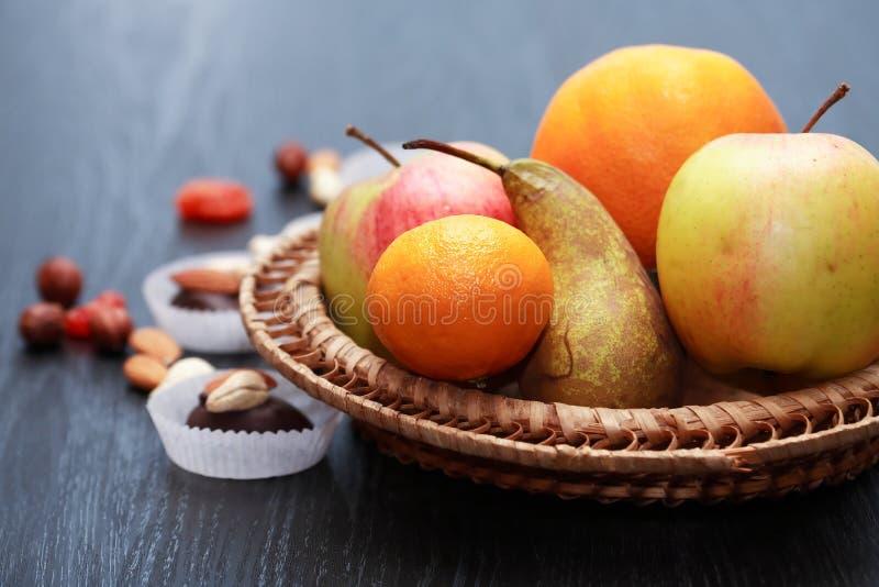 Snoepjes en Vruchten royalty-vrije stock afbeelding