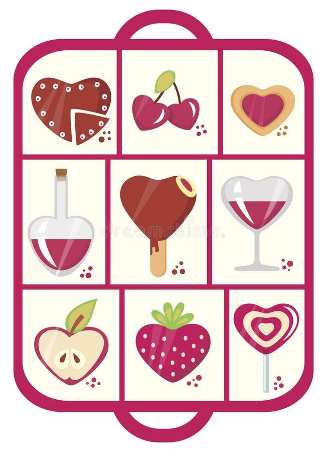 Snoepjes met liefdeconcept vector illustratie