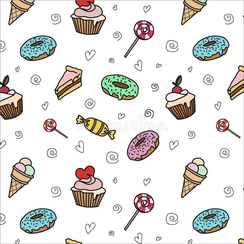 Snoepjes op de witte Achtergrond stock illustratie