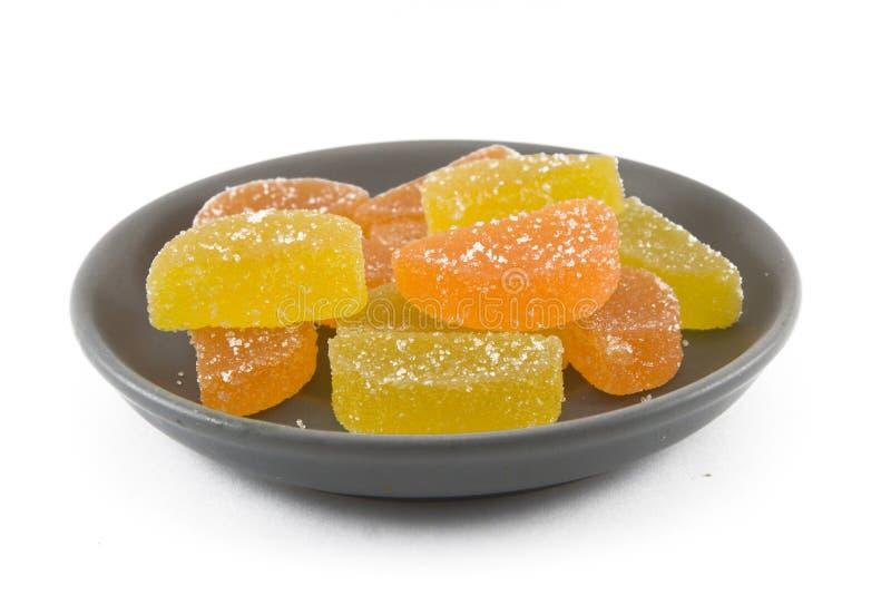 Snoepjes op een plaat. stock fotografie