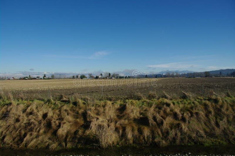 Snohomishvallei - Cascadebergen stock foto's