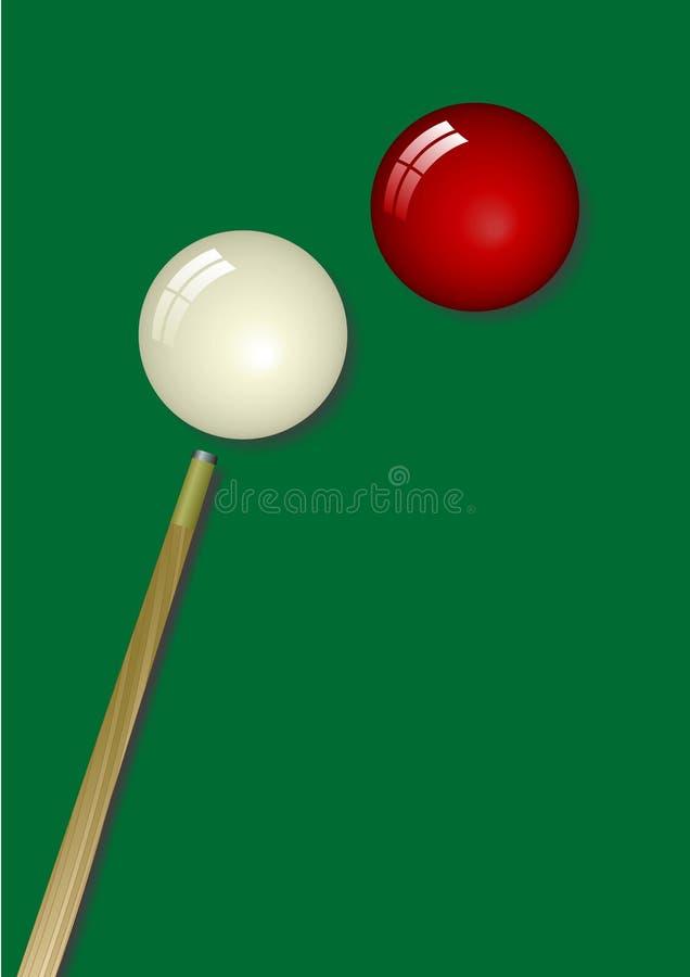 Snooker lizenzfreie abbildung