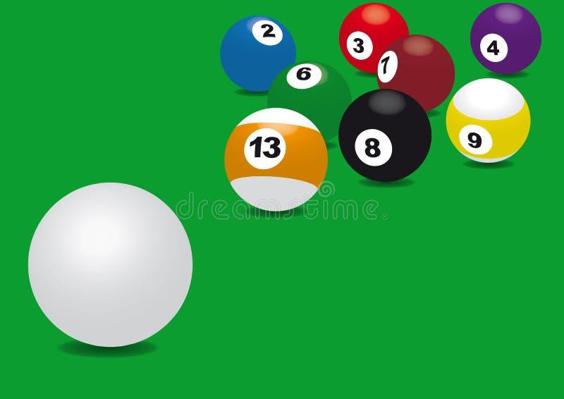 Snooker ilustração do vetor