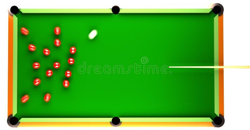 Snooker royalty free illustration