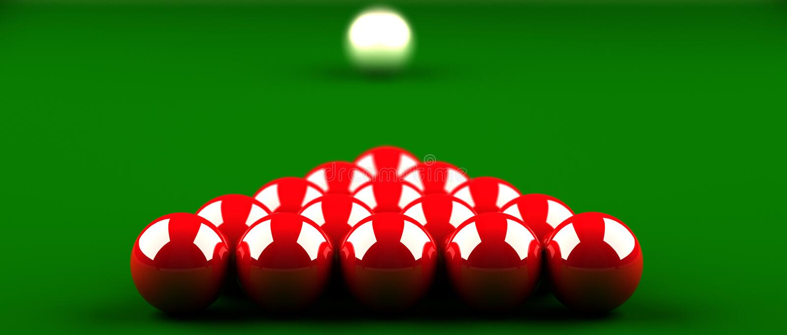 Snooker stock illustration