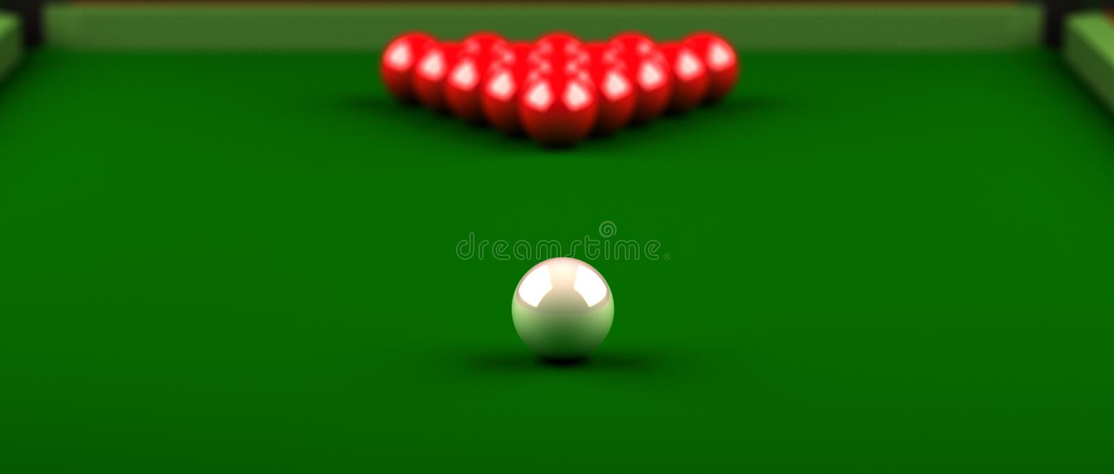 Snooker vector illustration
