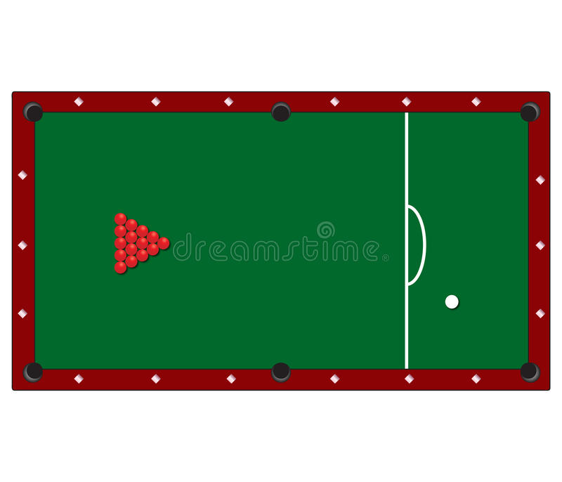 Download Snooker stock vector. Image of game, macro, illustration - 13981526