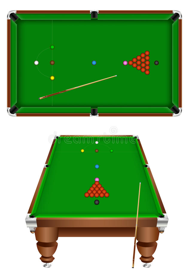 Snooker royalty free illustration