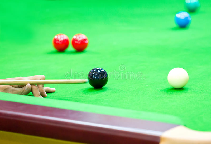 Download Snooker. fotografering för bildbyråer. Bild av spelrum - 37346235